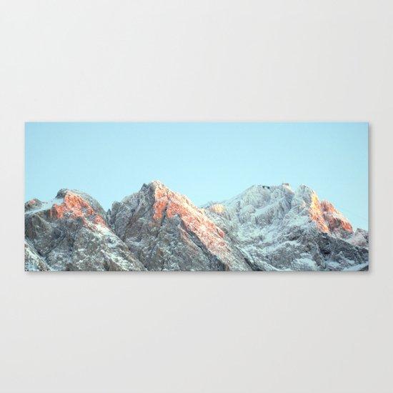 zugspitze mountain panorama, germany. Canvas Print