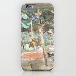 Kida Kinjiro - Fishing Boats (1960) iPhone Case