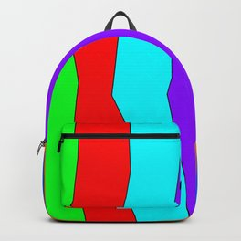 Abstract irregular coloured lines Backpack