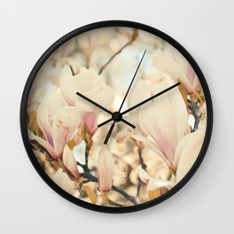 Magnolia and Cream Wall Clock