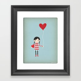 Love is in the Air - Girl Framed Art Print