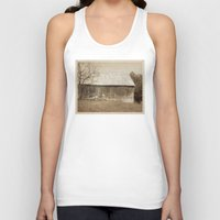 tennessee Tank Tops featuring Tennessee Farm Vintage Barn by Phil Perkins