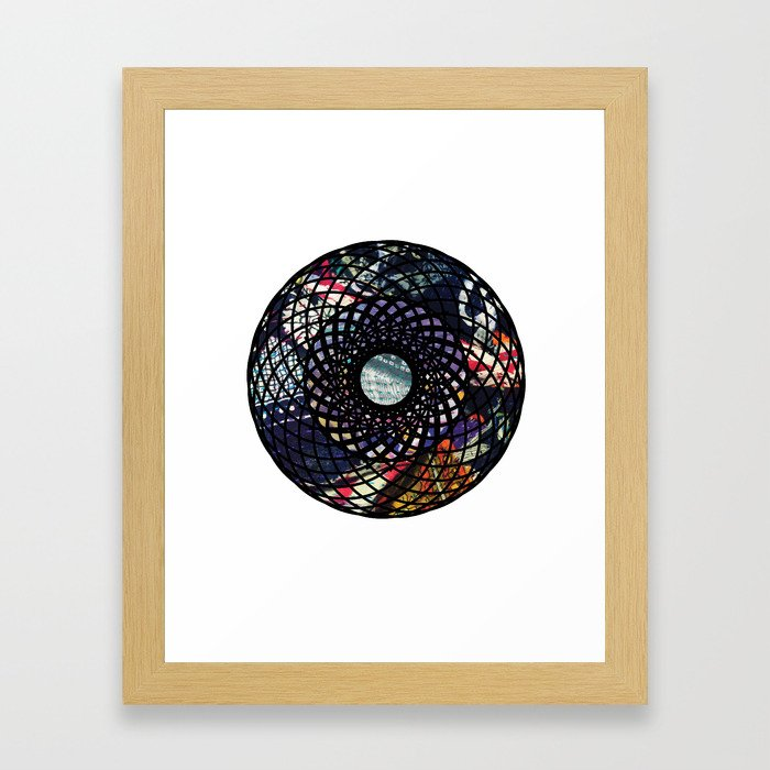 Mandala with Fabric Framed Art Print