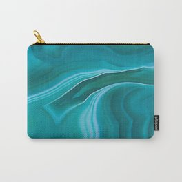 Agate sea green texture Carry-All Pouch