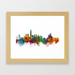 Taipei Taiwan Skyline Framed Art Print