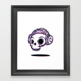3D Skull Framed Art Print
