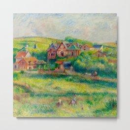 """Auguste Renoir """"Le châlet de Blanche Pierson à Pourville"""" Metal Print"""