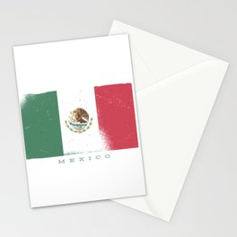 Mexico flag worn Stationery Cards