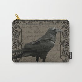 Vintage Halloween raven Carry-All Pouch
