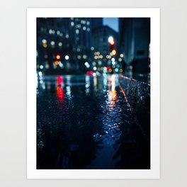 Cold City Lights Art Print