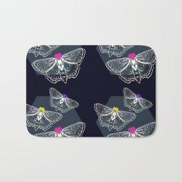 Bejeweled Moths Bath Mat