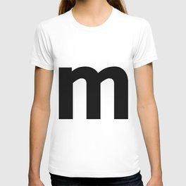 letter M (Black & White) T-shirt