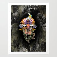 animal skull Art Prints featuring ANIMAL SKULL by sametsevincer