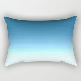 Sea blue Ombre Rectangular Pillow