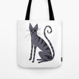 Grey Tabby Cat Tote Bag