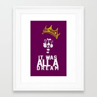 notorious big Framed Art Prints featuring Notorious! by JM Designs