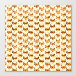 sandwiches pattern Canvas Print