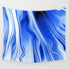 Streaming Blues Wall Tapestry