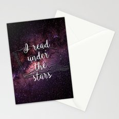 I read under the stars Stationery Cards