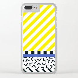Memphis pattern 85 Clear iPhone Case