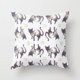 Pattern Cats Throw Pillow