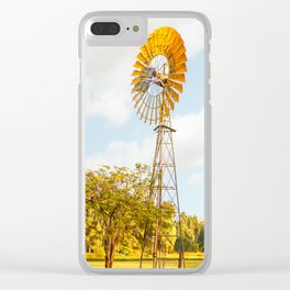 Windmills are gold in the Outback! Clear iPhone Case