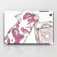 piglet iPad Cases featuring 12. Lovely Piglet with Heart Pattern by Hennaart yume by kat