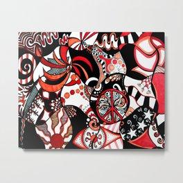 Black, Orange, Red Metal Print
