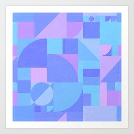 Periwinkle Bauhaus Art Print