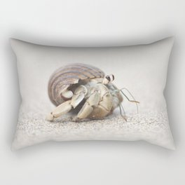 Life & times of a Hermit Crab Rectangular Pillow