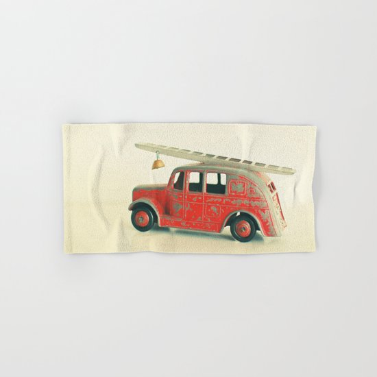Red Fire Engine Hand & Bath Towel