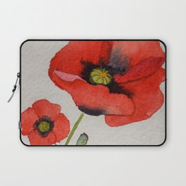 Watercolour Poppies Laptop Sleeve