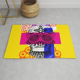 Death with a smile ecopop Rug