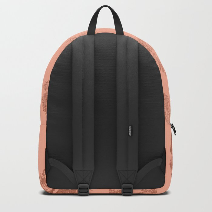 Sweet Life Lips Peach Coral Pink Shimmer Backpack