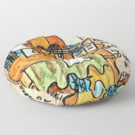 Pablo Picasso - The pedestal table - Model for an invitation card - Digital Remastered Edition Floor Pillow