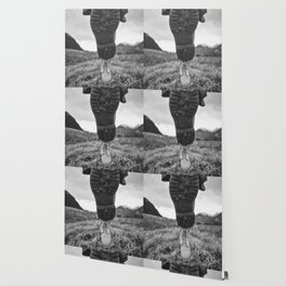 Let's Explore (Black and White) Wallpaper