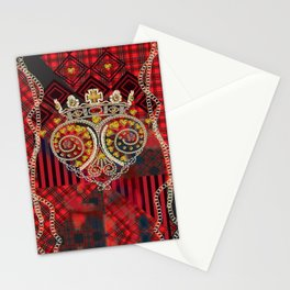 Skull with Motiff and Tartan Stationery Cards