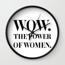 The Power of Women - Nicole Kidman Wall Clock