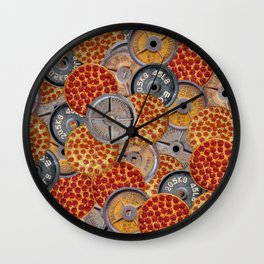 IRON&EMOTION PIZZA & PLATES  Wall Clock