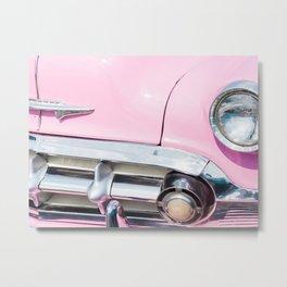 Pink Cadillac in Havana Cuba Metal Print