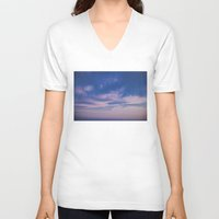 trippy V-neck T-shirts featuring Trippy Sky by Marie Carr