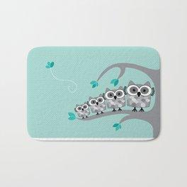 Owl Family  Bath Mat