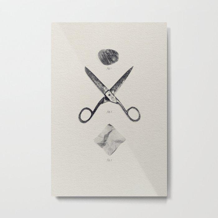 ROCK / SCISSORS / PAPER Metal Print
