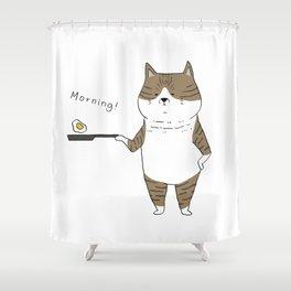 Morning Cat III Shower Curtain
