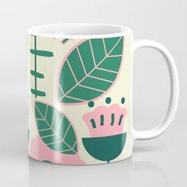 Modern flowers and leaves Coffee Mug