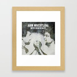 Alan Arm Wrestling with Chas and Dave Framed Art Print