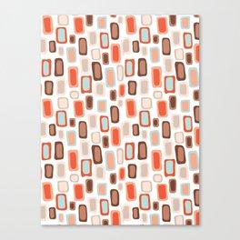 Retro Rectangles Canvas Print