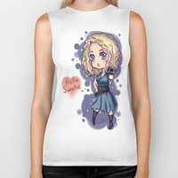 river song Biker Tanks featuring Chibi River Song   by Midnight Tardis
