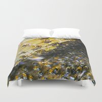 bees Duvet Covers featuring Bees! by Creative Lore