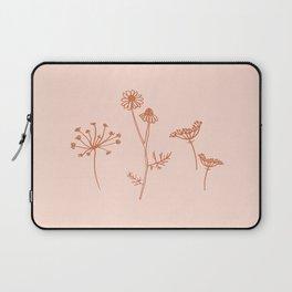 Wildflower Line Art Laptop Sleeve